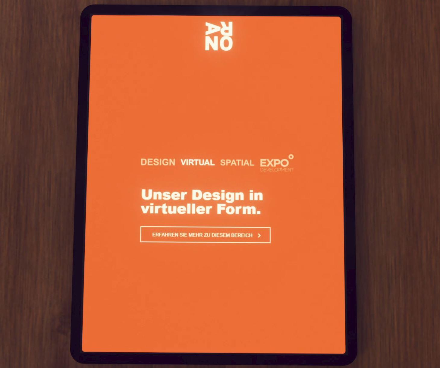 ARNO Design virtuelle Form Tablett