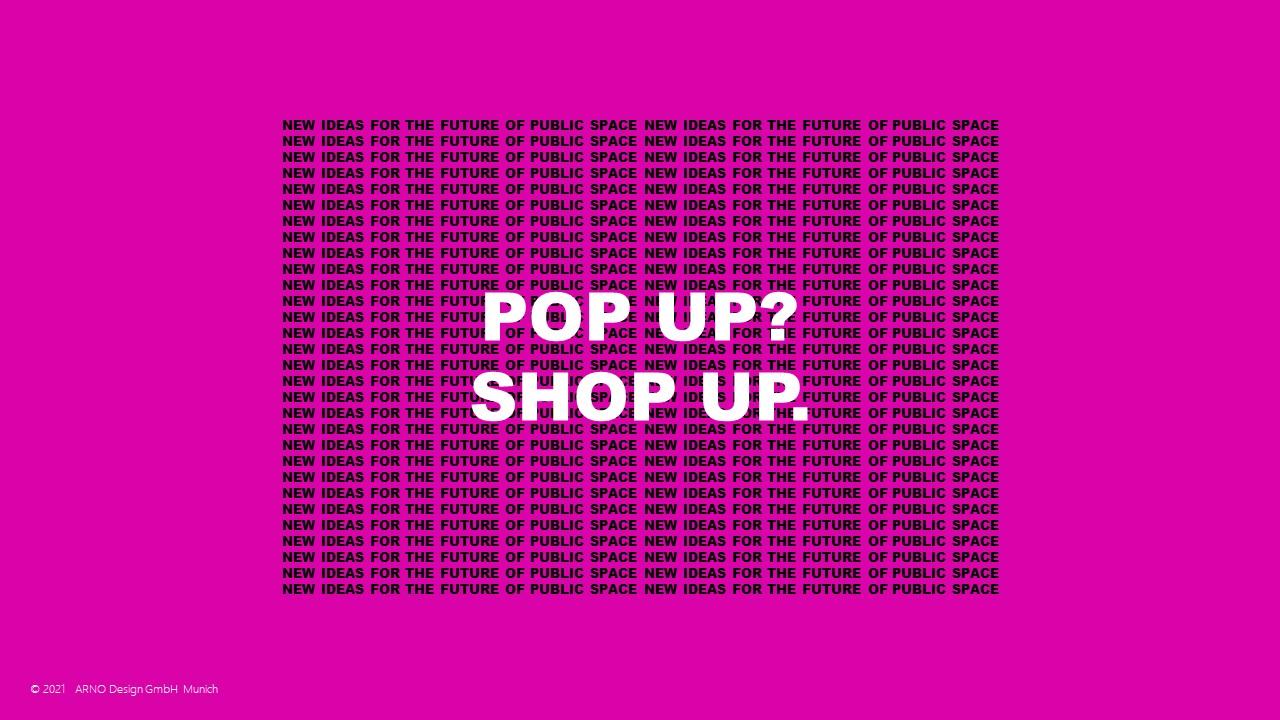 Pop Up Store Konzept